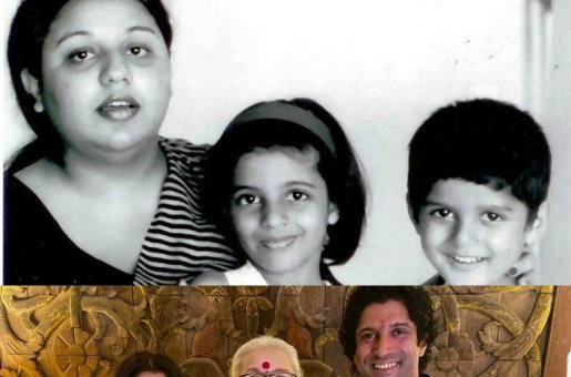Farhan Akhtar and Zoya Akhtar's Pictures with Their Mother are Winning Hearts