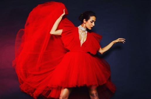 Malaika Arora looks fierce in red tulle dress