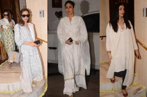 Malaika Arora, Kareena Kapoor and Aishwarya Rai in subdued hues as they arrive at Manish Malhotra's residence