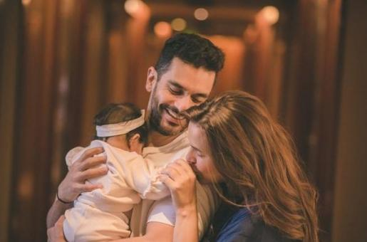 Neha Dhupia, Angad Bedi Look Picture-Perfect As They Head To Amritsar With Baby Mehr