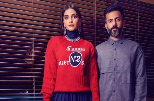 Sonam Kapoor, Anand Ahuja Touch Down in Mumbai, Make Major Style Statement
