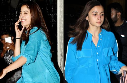 Alia Bhatt, Janhvi Kapoor Are Taking Our Blues Away In Similar Shirts