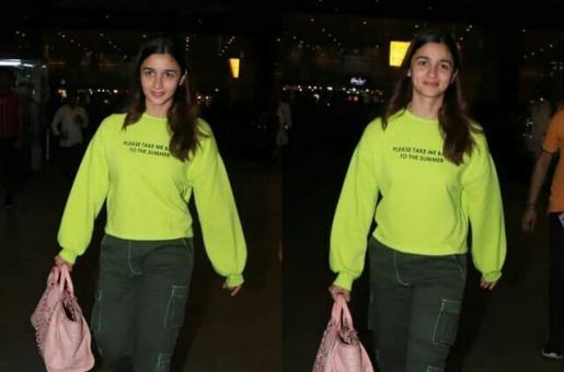 Alia Bhatt Rocks Neon in Latest Airport Look