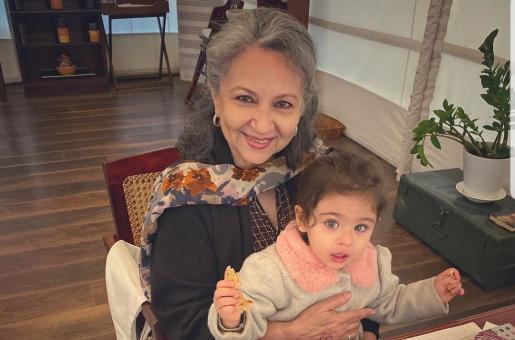 Sharmila Tagore and Inaaya Naumi Kemmu Enjoy the Birthday Pancakes