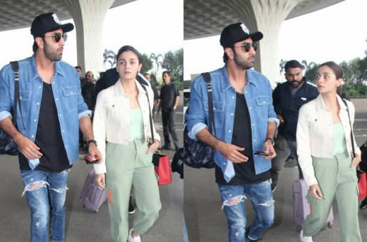 Alia Bhatt, Ranbir Kapoor Make Casual Style Statement At Mumbai Airport