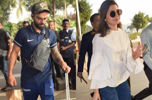 Anushka Sharma, Virat Kohli Arrive At Mumbai Airport In Style-Savvy Looks