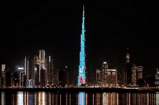 TikTok Screens Highlights of the Year in One of a Kind LED Show on Burj Khalifa