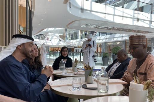 Sheikh Mohamed bin Zayed Al Nahyan Meets UNGA President Tijjani Muhammad-Bande at Dubai Mall