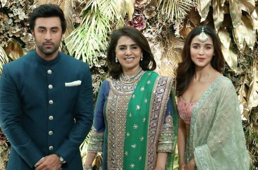 Ranbir Kapoor, Alia Bhatt, and Neetu Singh Arrive Together for Armaan Jain's Wedding Reception