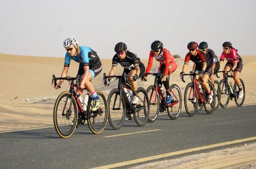 Dubai's First Ever Women's Cycling Event Begins
