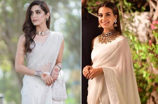 Iqra Aziz, Maya Ali Are Proof that a White Sari Can Make You Stand Out From The Crowd