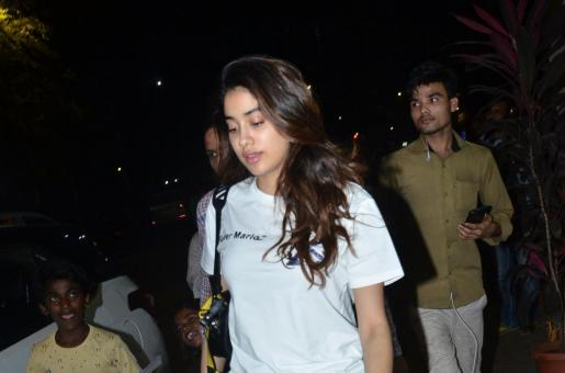 Janhvi Kapoor Sports Casual Look While Out and About in the City