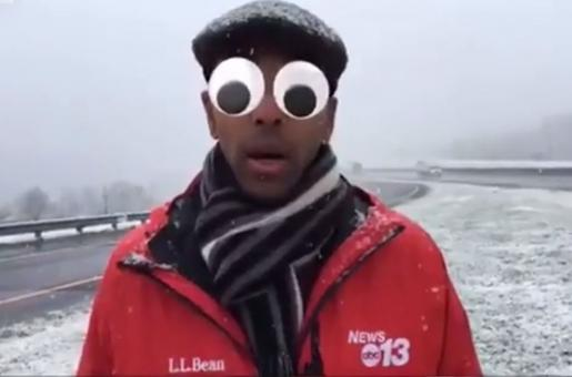 Television Reporter Accidentally Puts on Facebook Filters During a Serious Session