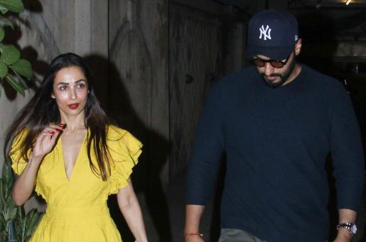 Arjun Kapoor, Malaika Arora Step Out to Celebrate Her Mother's Birthday