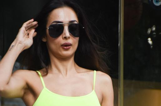 Malaika Arora Leaves Heads Turning in Nude-Coloured Gym Attire