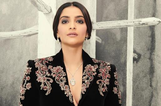 Sonam Kapoor Slays in a Velvet Power Suit and We're Here For It