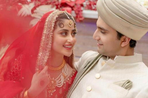 Sajal Ali and Ahad Raza Mir Wedding (Nikkah) Pics: Sajal and Ahad Channel Classic Looks
