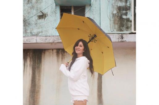 Katrina Kaif shares a picture of her enjoying the Mumbai monsoon