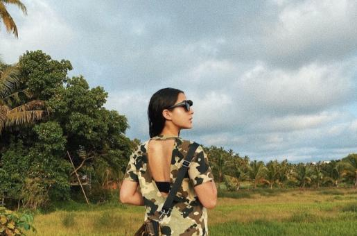How to recreate Sara Ali Khan's cool camouflage holiday fashion look