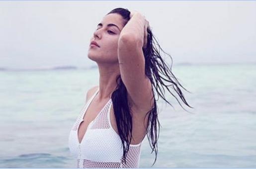 Katrina Kaif stuns in a white swimsuit at the beach