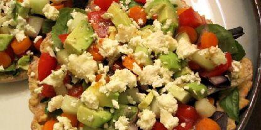 Recipe: Greek Salad on Toasted Pita