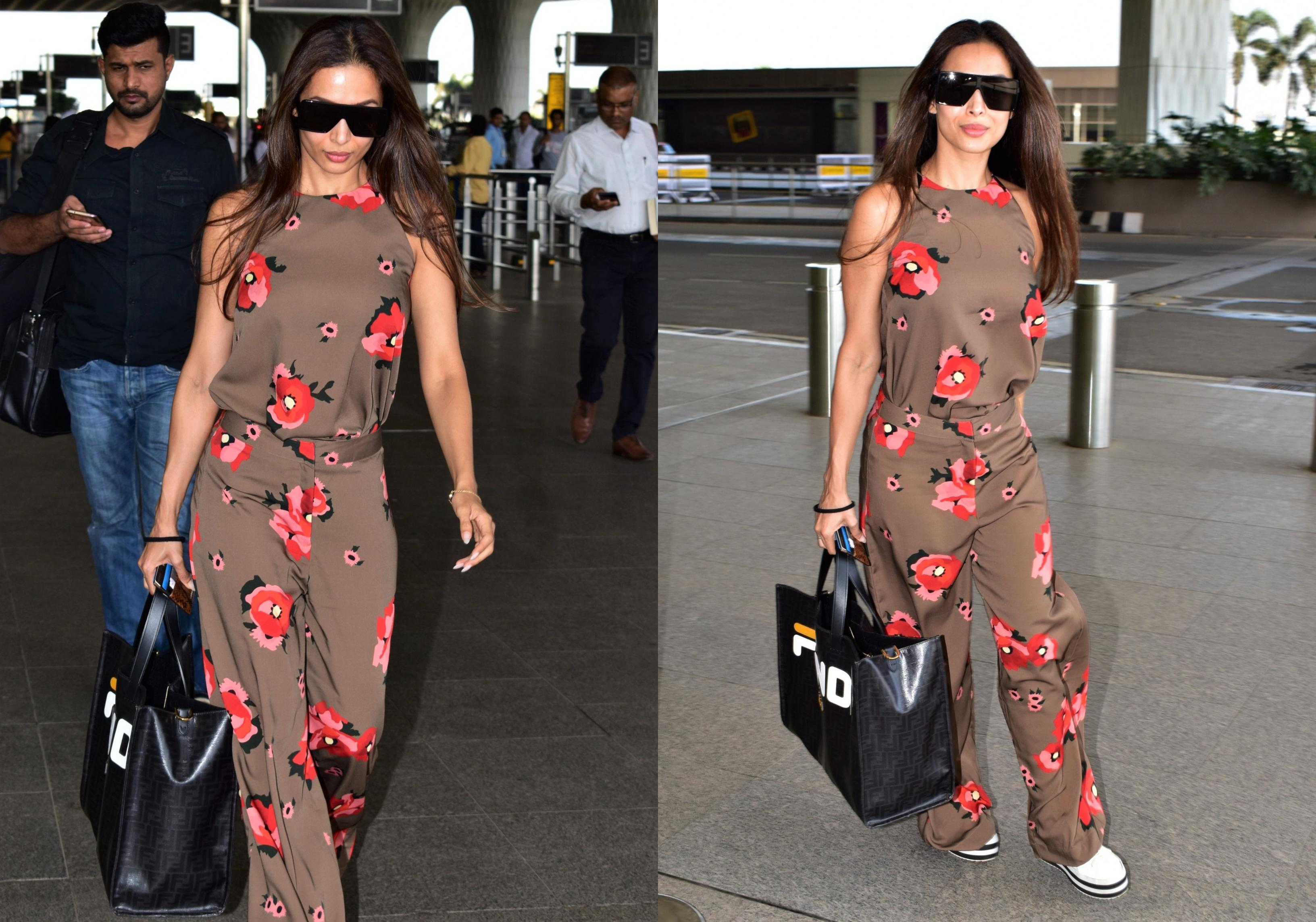 Malaika Arora Rocks Florals At The Airport!