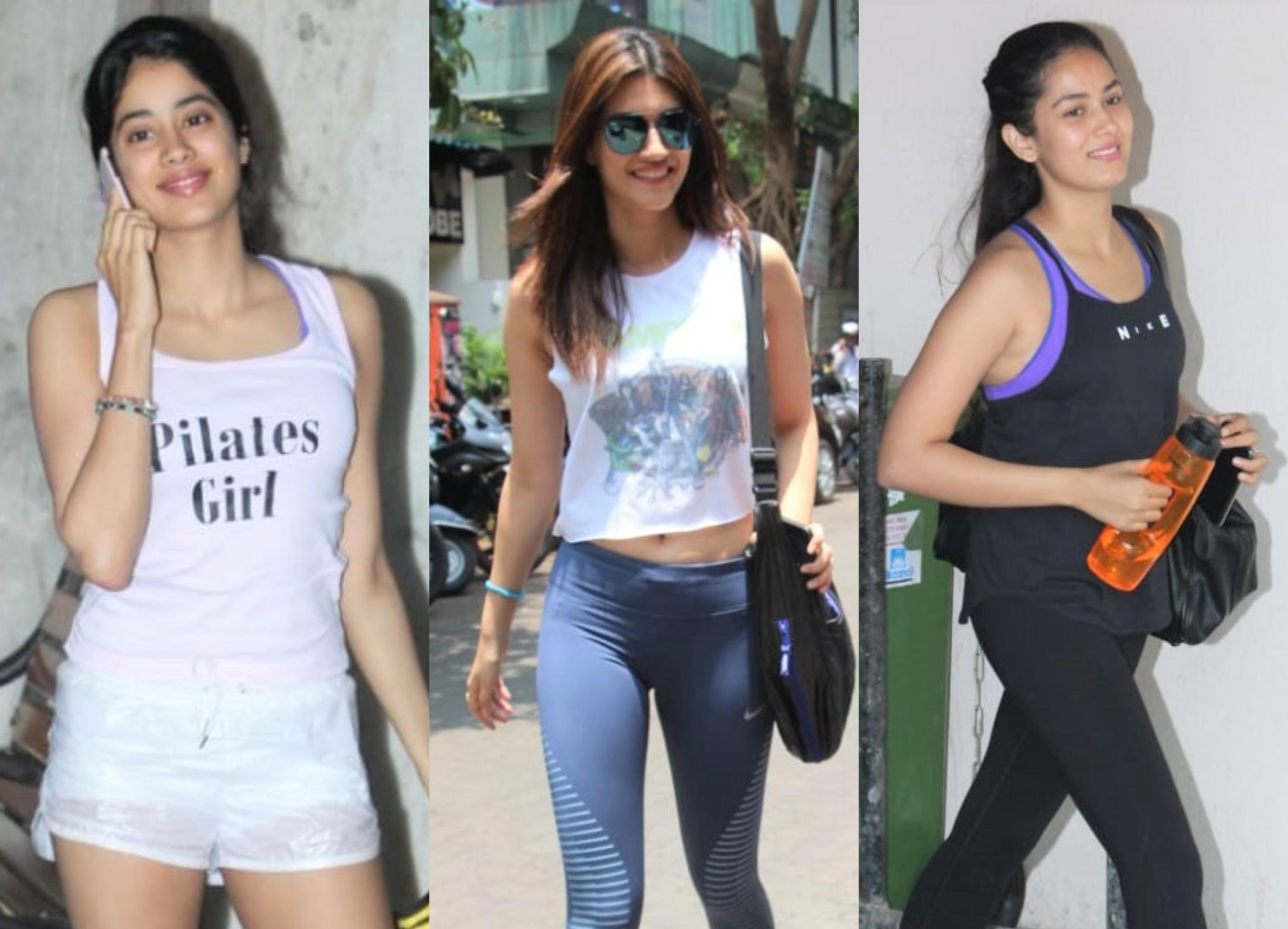 Janhvi Kapoor, Kriti Sanon and Mira Rajput Hit the Gym!