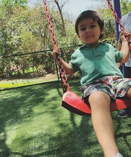 Taimur Ali Khan on a Swing Ride in the Park is the Best Thing to See on the Internet!