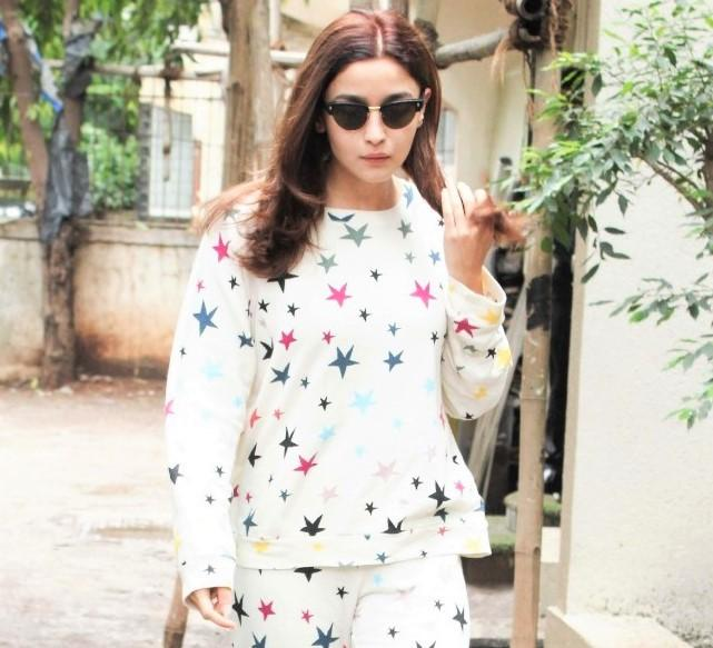 Alia Bhatt's Colorful and Starry Ensemble is Your New Comfy Fashion Goal