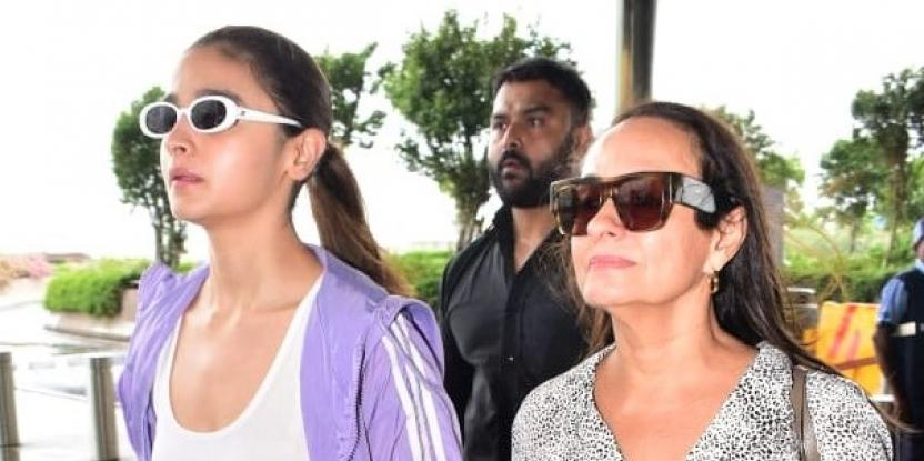 Alia Bhatt and Soni Razdan Holding Hands at the Airport Is Mommy-Daughter Goals!