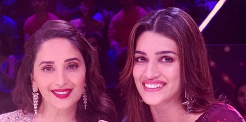 Kriti Sanon Has a Fangirl Moment With Madhuri Dixit, Dances With Her to Akhiyaan Milaoon!