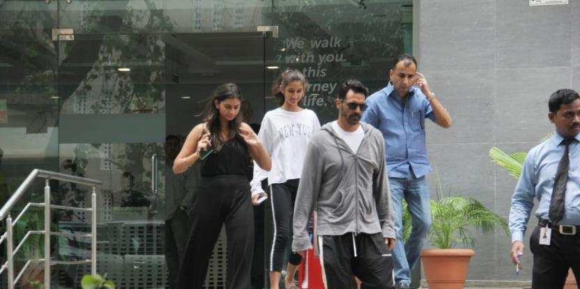 Arjun Rampal Snapped As He Exits Hospital With His Daughters After Birth of His Baby Boy