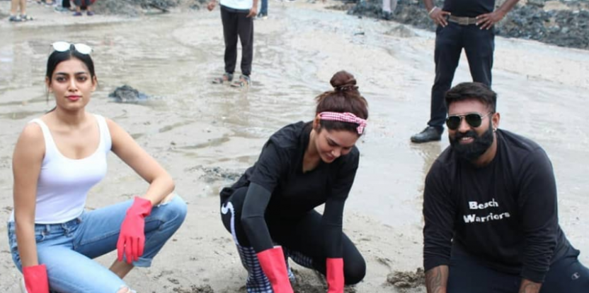 Esha Gupta and Other Celebrities Join Citizens For Massive Cleanliness Drive In Mumbai