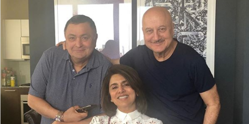 Anupam Kher Cooks Lunch for Rishi Kapoor and Neetu Kapoor in New York