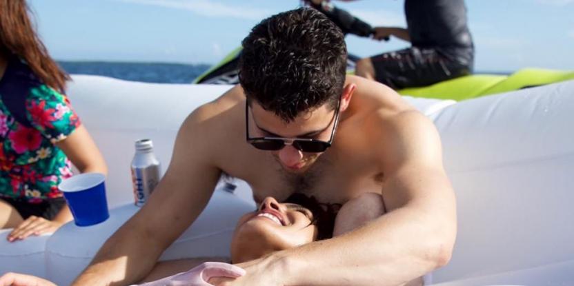 Priyanka Chopra and Nick Jonas Gaze Lovingly at Each Other in Holiday Snaps