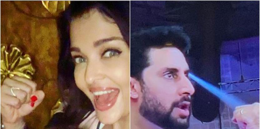 Aishwarya Rai Bachchan, Aaradhya Bachchan Cheer for Abhishek Bachchan and We Love the Similarity in the Poses!