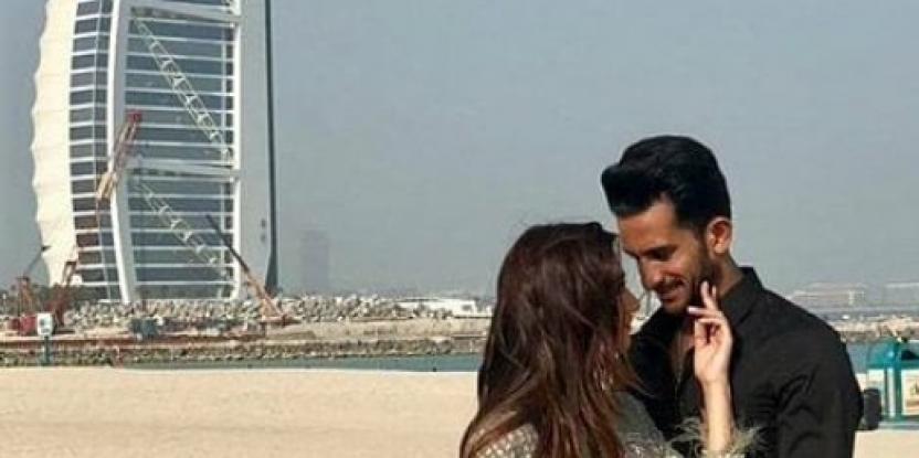 Hassan Ali and Samiya Arzoo During a Pre-Wedding Shoot at Kite Beach in Dubai