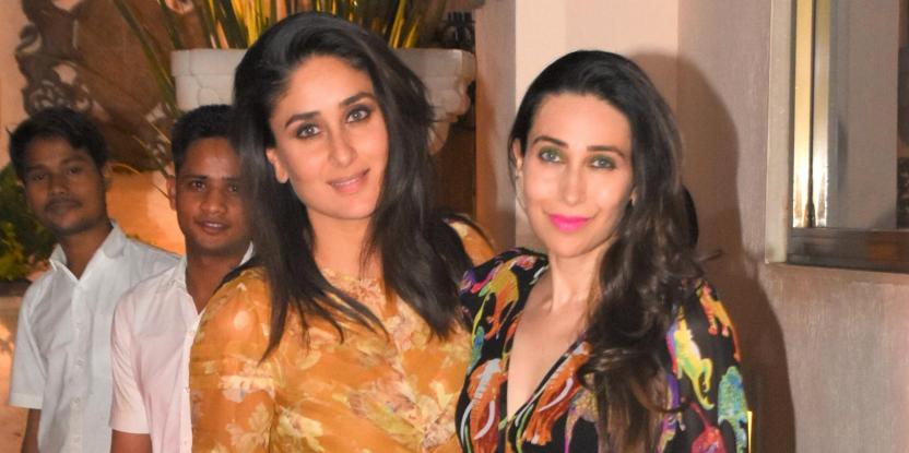Kareena Kapoor Khan and Karisma Kapoor Work Printed Dresses in Style