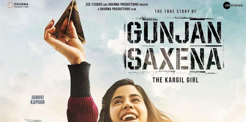 Karan Johar Posts the First Look of Jahnvi Kapoor Starrer Gunjan Saxena - The Kargil Girl
