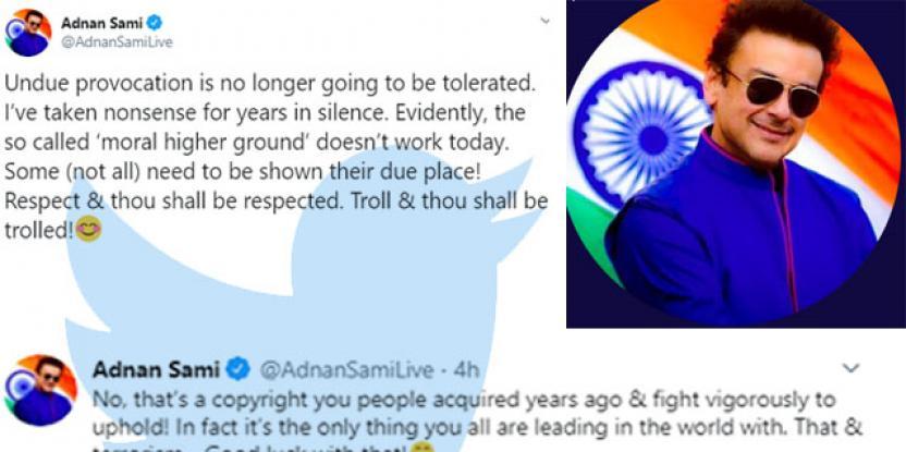 Adnan Sami Khan Trolls Trolls: Claps Back to Pakistani Twitter