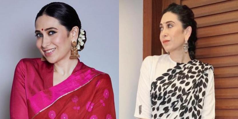 Karisma Kapoor's 2 Sari Looks You Have to See