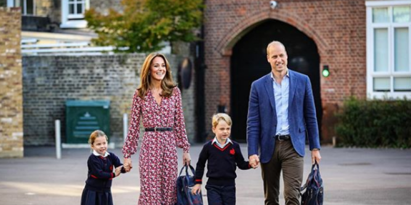 Princess Charlotte Arrives With Parents Prince William, Kate Middleton for the First Day in the New School