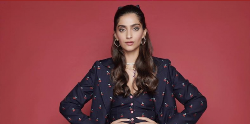 Sonam Kapoor Cuts a Stylish Figure In Power Suit For Film Promotions