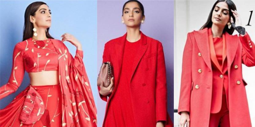 Three Bold Red Looks from Sonam Kapoor's Film Promotions