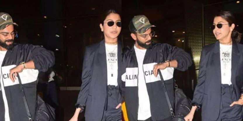 Anushka Sharma, Virat Kohli arrive in Mumbai in style