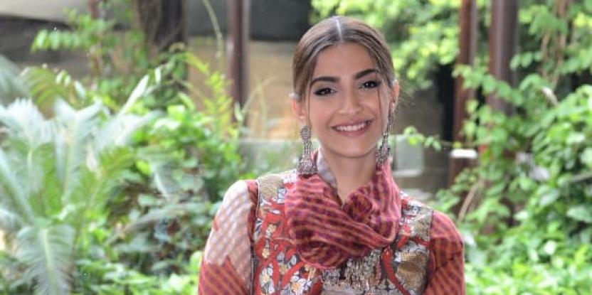 Sonam Kapoor Exudes Traditional Vibes in Latest Promotional Look