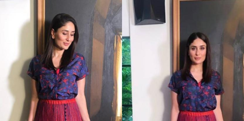 Kareena Kapoor Works a Pleated Skirt and Blouse Combo