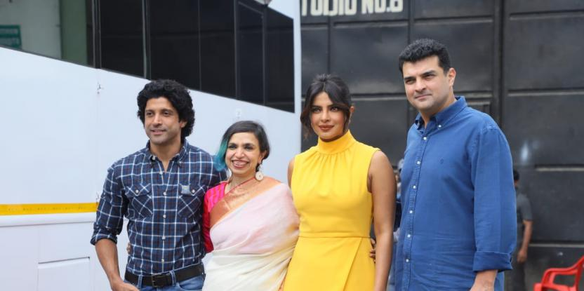 Priyanka Chopra And Farhan Akhtar Spotted Promoting 'The Sky Is Pink'