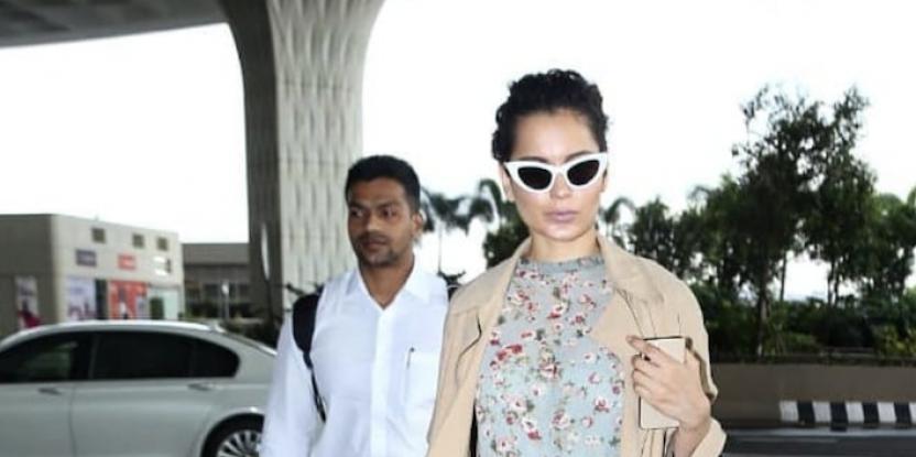Kangana Ranaut Works Pastel Hues in Latest Airport Look!