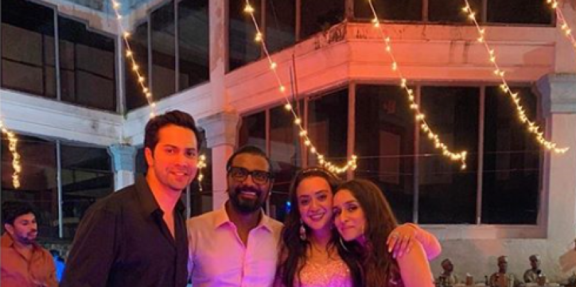 Varun Dhawan Attends the Third Renewal of the Wedding Vows for Remo D'Souza and Wife Lizelle D'Souza
